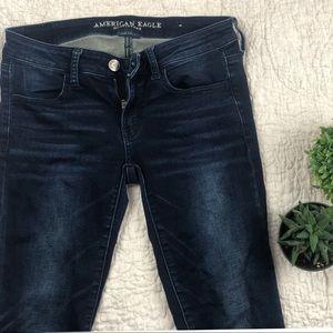 American Eagle mid/low rise dark wash skinny jeans